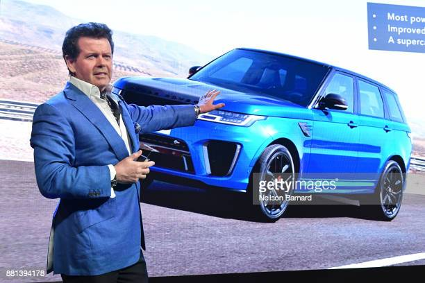 Gerry McGovern Chief Design Officer Land Rover at an exclusive customer preview which introduced three new vehicles from Jaguar Land Rover's Special...