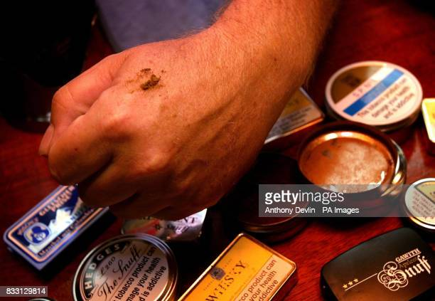 Gerry McLaughlin the landlord at the Miners Arms in Bristol is providing customers with 16 different types of snuff a tobacco based powder inhaled...