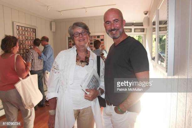 Gerry Morrison and Tim O'Brien attend Artist Reception for John Gettings 'Photographs' at B Gallery on August 7 2010 in New York City