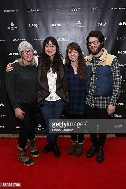 Gerry Rafter actress Lily Gladstone Alanna Waxman and Marshall Granger attend The APA Reception at The RAND Luxury Lounge at The St Regis Deer Valley...