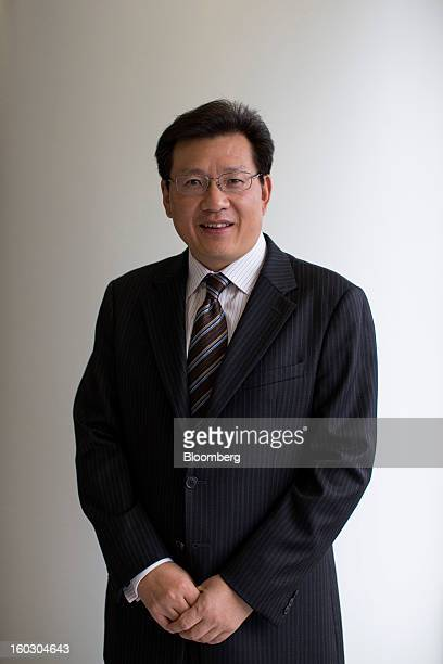 Gerry Wang chief executive officer of Seaspan Corp poses for a photograph in Hong Kong China on Tuesday Jan 29 2013 Seaspan is likely to order...