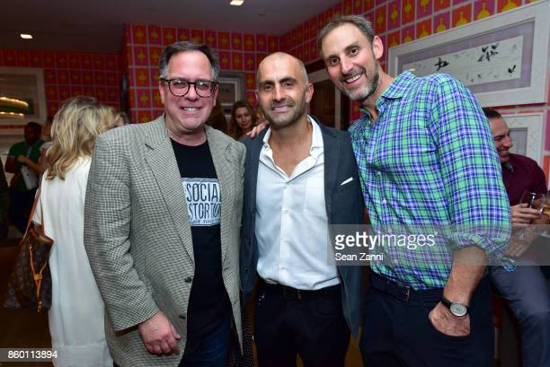 Gersh Diggler Artist Bill Claps and Michael Cohen attend the launch of The Collector Geneva's Sophie Bonvin Code Collection in Collaboration with...