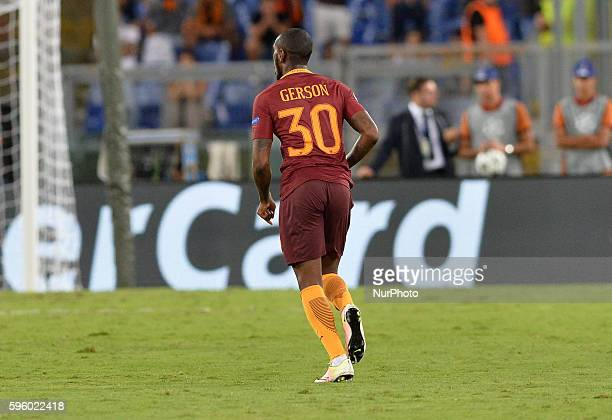 Gerson during the champions league football match AS Roma vs Porto FC at the Olympic Stadium in Rome on august 23 2016