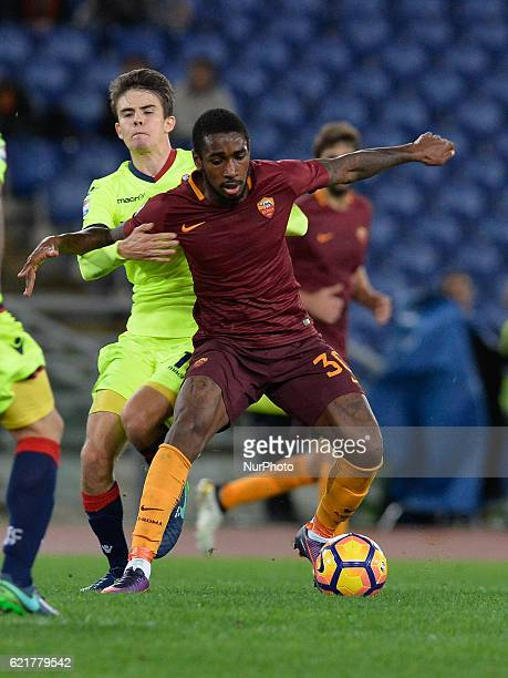 Gerson during the Italian Serie A football match between AS Roma and FC Bologna at the Olympic Stadium in Rome on november 06 2016