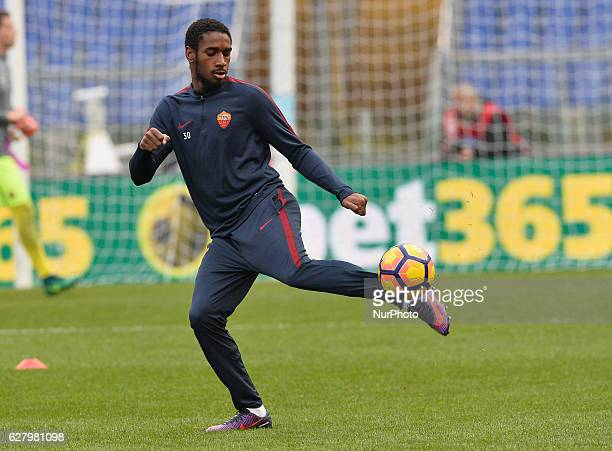 Gerson during the Italian Serie A football match between SS Lazio and AS Roma at the Olympic Stadium in Rome on december 04 2016