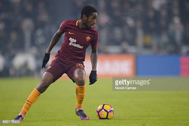 Gerson of AS Roma in action during the Serie A football match between Juventus FC and AS Roma Juventus FC wins 10 over AS Roma
