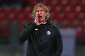 Gertjan Verbeek head coach of Bochum reacts during the Second Bundesliga match between 1 FC Nuernberg and VfL Bochum at GrundigStadion on February 15...