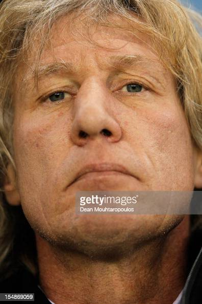 Gertjan Verbeek the AZ Alkmaar Manager looks on prior to the Eredivisie match between Vitesse Arnhem and AZ Alkmaar at Gelredome on October 28 2012...
