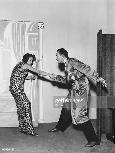 Gertrude Lawrence and Noel Coward in a production of Coward's play 'Private Lives' at the Phoenix Theatre London 12th September 1930