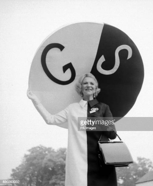 Gertrude Shilling wears a 48 inch black and white silk hat on the opening day of Royal Ascot races * 14/10/99 Famous for wearing extravagant hats at...