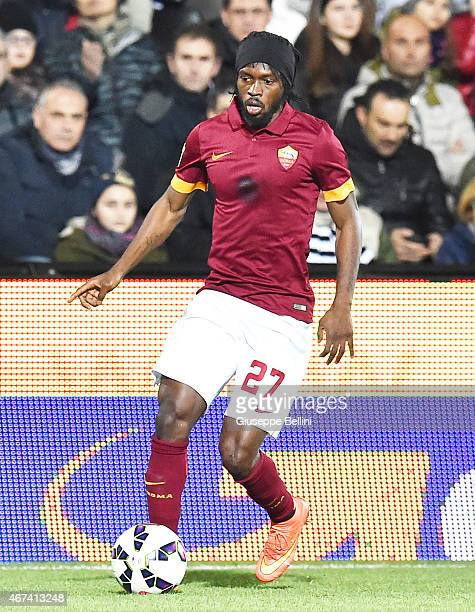 Gervinho of AS Roma in action during the Serie A match between AC Cesena and AS Roma at Dino Manuzzi Stadium on March 22 2015 in Cesena Italy