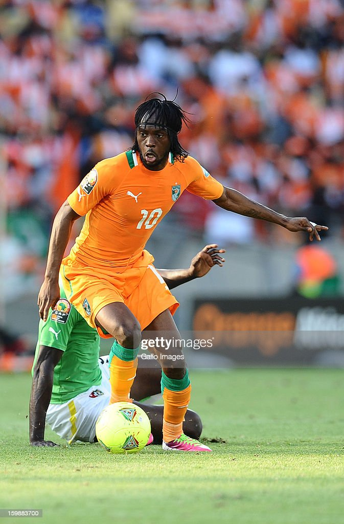 <a gi-track='captionPersonalityLinkClicked' href=/galleries/search?phrase=Gervinho&family=editorial&specificpeople=4500752 ng-click='$event.stopPropagation()'>Gervinho</a> of Ivory Coast in action during the 2013 Orange African Cup of Nations match between Ivory Coast and Togo at Royal Bafokeng Stadium on January 22, 2013 in Rustenburg, South Africa.