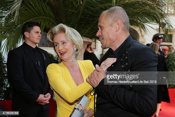 Gery Keszler and a Elisabeth Guertler attend the AIDS Solidarity Gala at Hofburg Vienna on May 16 2015 in Vienna Austria
