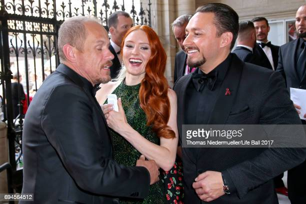 Gery Keszler Barbara Meier and Klemens Hallmann attend the Life Ball 2017 Gala Dinner at City Hall on June 10 2017 in Vienna Austria