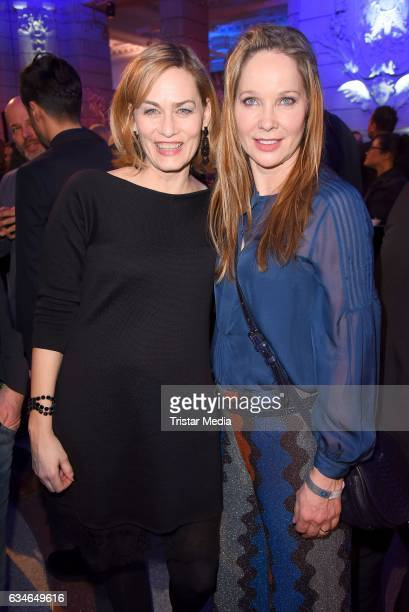Gesine Cukrowski and AnnKathrin Kramer attend the Blue Hour Reception hosted by ARD during the 67th Berlinale International Film Festival Berlin on...