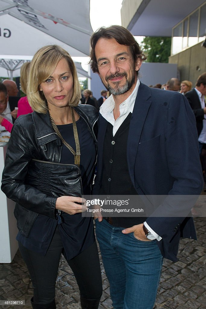 <a gi-track='captionPersonalityLinkClicked' href=/galleries/search?phrase=Gesine+Cukrowski&family=editorial&specificpeople=636537 ng-click='$event.stopPropagation()'>Gesine Cukrowski</a> and Hans-Werner Meyer attend the producer party 2014 (Produzentenfest) of the Alliance German Producer - Cinema And Television on June 25, 2014 in Berlin, Germany.
