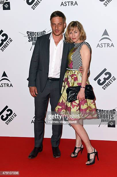 Gesine Cukrowski and Tom Wlaschiha attend the Shocking Shorts Award 2015 during the Munich Film Festival on June 30 2015 in Munich Germany