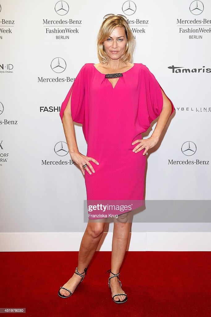<a gi-track='captionPersonalityLinkClicked' href=/galleries/search?phrase=Gesine+Cukrowski&family=editorial&specificpeople=636537 ng-click='$event.stopPropagation()'>Gesine Cukrowski</a> attends the Laurel show during the Mercedes-Benz Fashion Week Spring/Summer 2015 at Erika Hess Eisstadion on July 10, 2014 in Berlin, Germany.