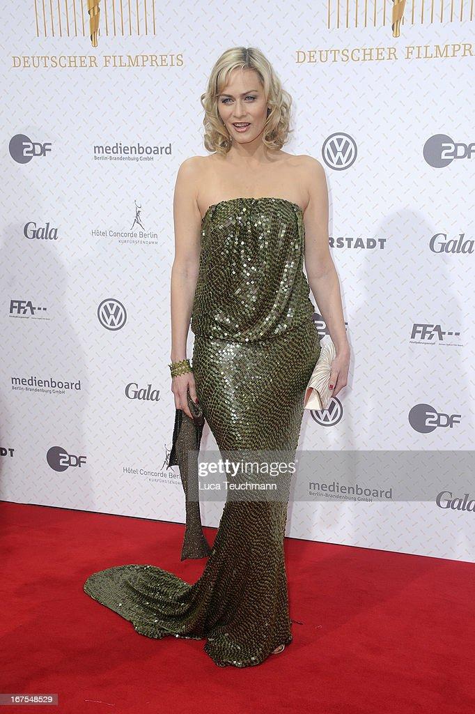 Gesine Cukrowski attends the Lola - German Film Award 2013 at Friedrichstadt-Palast on April 26, 2013 in Berlin, Germany.
