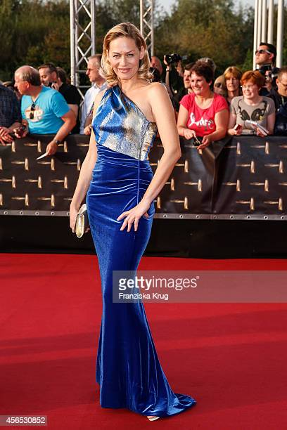 Gesine Cukrowski attends the red carpet of the Deutscher Fernsehpreis 2014 on October 02 2014 in Cologne Germany