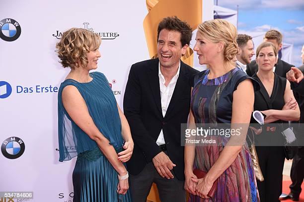 Gesine Cukrowski Oliver Mommsen and Tanja Wedhorn attend the Lola German Film Award 2016 Red Carpet Arrivals on May 27 2016 in Berlin Germany