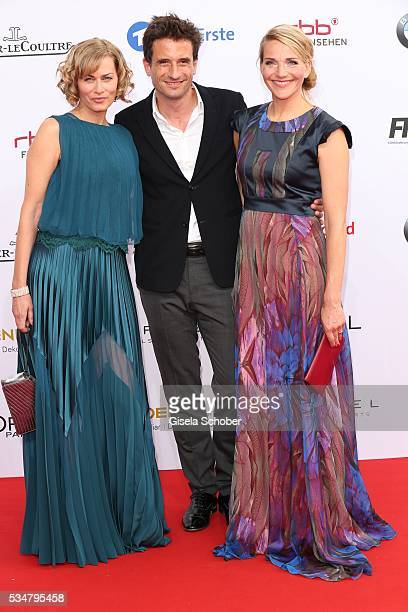 Gesine Cukrowski Oliver Mommsen und Tanja Wedhorn attend the Lola German Film Award 2016 on May 27 2016 in Berlin Germany