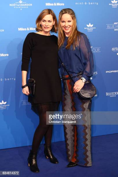 Gesine Cukrowsky and Ann Kathrin Kramer attend the Blue Hour Reception hosted by ARD during the 67th Berlinale International Film Festival Berlin on...