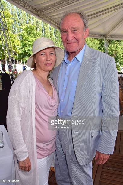 Gesine Friedmann and Michael Mendl during the Global Jumping at Longines Global Champions Tour at Sommergarten unter dem Funkturm on July 29 2017 in...