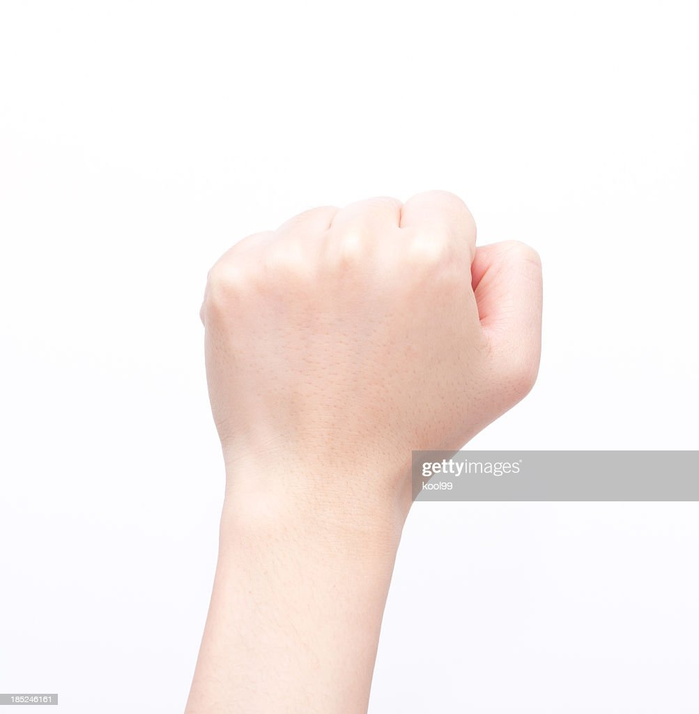Gestures; a clenched fist