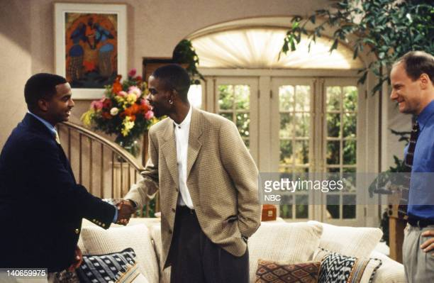 AIR THE 'Get a Job' Episode 2 Pictured Alfonso Ribeiro as Carlton Banks Chris Rock as Maurice Jim Meskimen as Werner Photo by Jan Sonnenmair/NBCU...