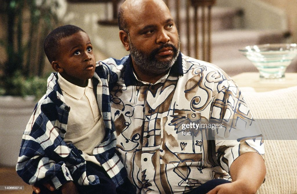 AIR, THE -- 'Get a Job' Episode 2 -- Pictured: (l-r) Ross Bagley as Nicky Banks, James Avery as Philip Banks -- Photo by: Jan Sonnenmair/NBCU Photo Bank