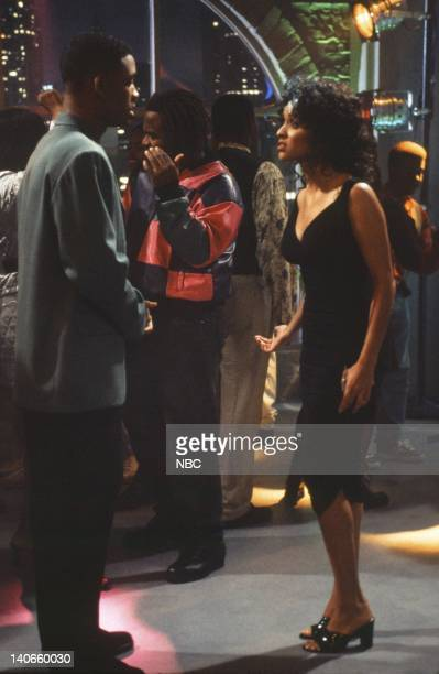 AIR THE 'Get a Job' Episode 2 Pictured Will Smith as William 'Will' Smith Karyn Parsons as Hilary Banks Photo by Jan Sonnenmair/NBCU Photo Bank