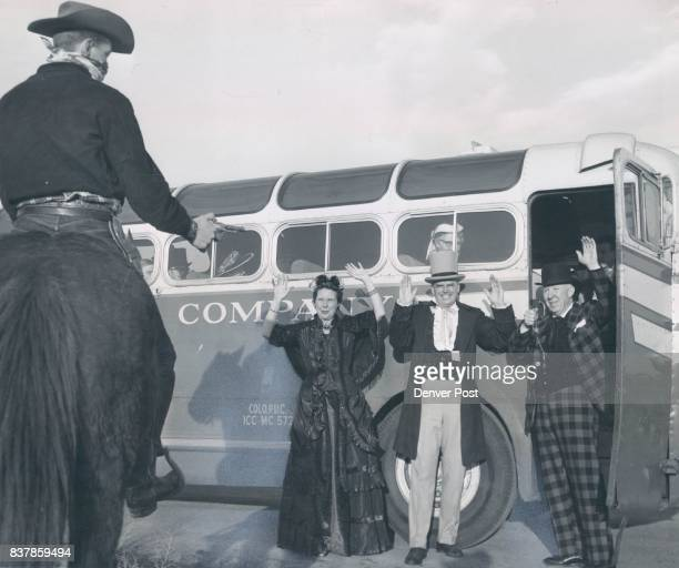 MAR 7 1955 MAR 13 1955 'Get 'em up' says makebelieve robber Miles Cannon to Mrs Aksel Nielsen Stanley Wallbank and Nevin Carson The robbery was...