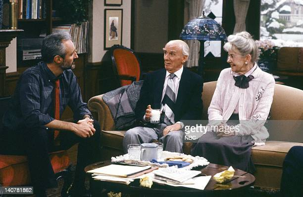 TIES 'Get Me to the Living Room on Time' Episode 11 Pictured Michael Gross as Steven Keaton Douglas Seale as Joseph Simmons Marie Denn as Eva Martin...