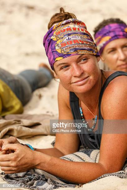 'Get to Gettin'' Ashley Nolan on the seventh episode of SURVIVOR 35 themed Heroes vs Healers vs Hustlers airing Wednesday November 8 on the CBS...