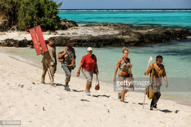 'Get to Gettin'' Cole Medders Ben Driebergen Lauren Rimmer Jessica Johnston and Mike Zahalsky on the seventh episode of SURVIVOR 35 themed Heroes vs...
