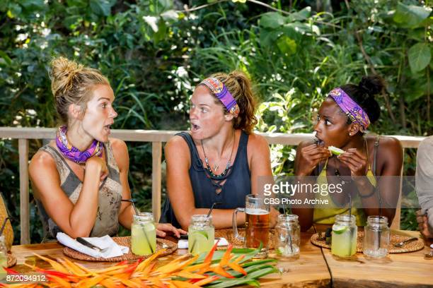 'Get to Gettin'' Jessica Johnston Ashley Nolan and Desiree Williams on the seventh episode of SURVIVOR 35 themed Heroes vs Healers vs Hustlers airing...