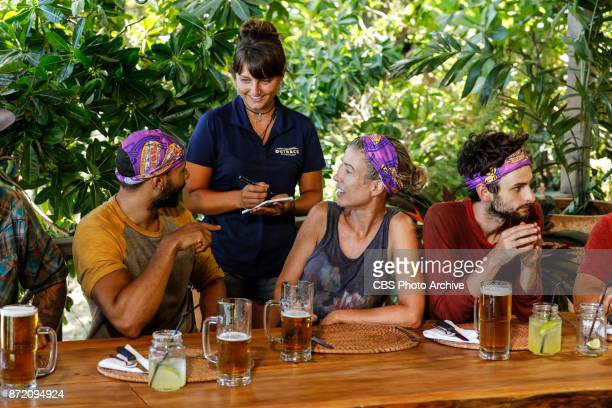 'Get to Gettin'' Joe Mena Chrissy Hofbeck and Ryan Ulrich on the seventh episode of SURVIVOR 35 themed Heroes vs Healers vs Hustlers airing Wednesday...