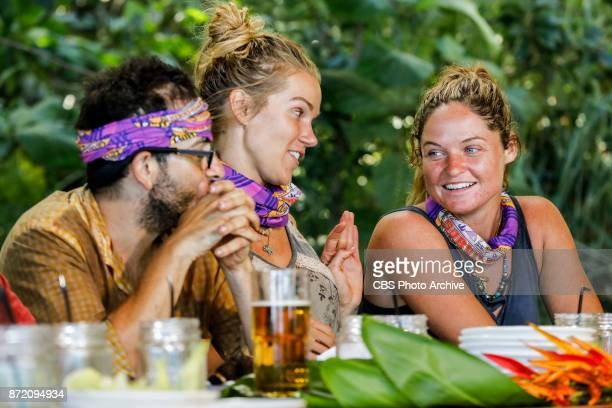 'Get to Gettin'' Mike Zahalsky Jessica Johnston and Ashley Nolan on the seventh episode of SURVIVOR 35 themed Heroes vs Healers vs Hustlers airing...