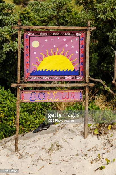 'Get to Gettin'' The newly merged tribe flag on the seventh episode of SURVIVOR 35 themed Heroes vs Healers vs Hustlers airing Wednesday November 8...