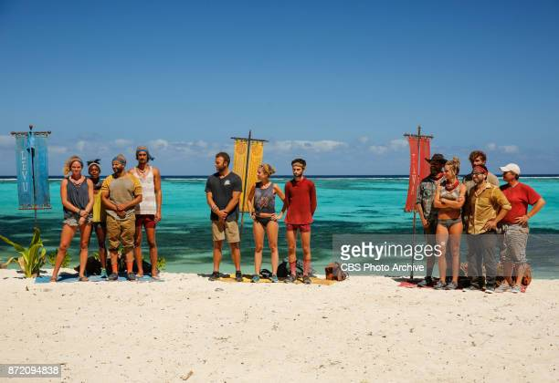 'Get to Gettin'' The three tribes on the seventh episode of SURVIVOR 35 themed Heroes vs Healers vs Hustlers airing Wednesday November 8 on the CBS...