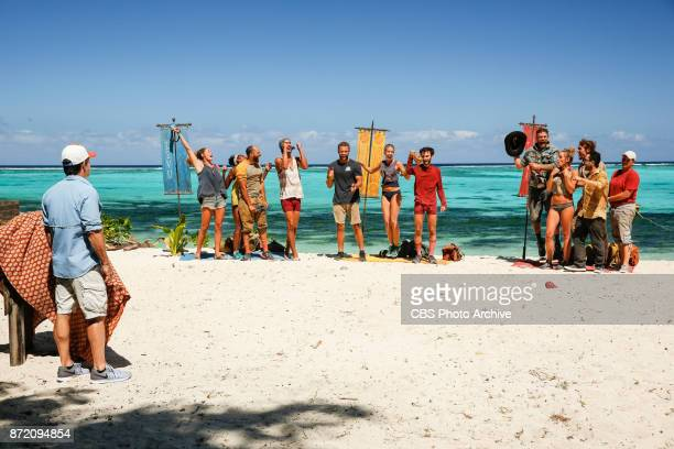 'Get to Gettin'' The tribes celebrate the Merge on the seventh episode of SURVIVOR 35 themed Heroes vs Healers vs Hustlers airing Wednesday November...