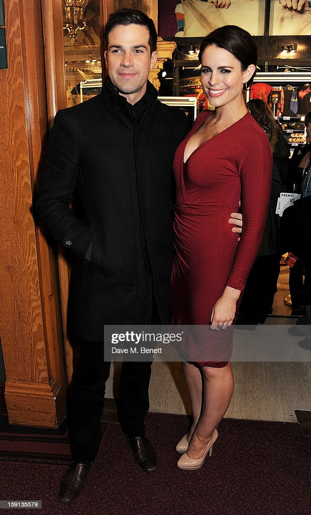 Gethin Jones (L) and <a gi-track='captionPersonalityLinkClicked' href=/galleries/search?phrase=Susie+Amy&family=editorial&specificpeople=212968 ng-click='$event.stopPropagation()'>Susie Amy</a> arrive at the opening night of Cirque Du Soleil's Kooza at Royal Albert Hall on January 8, 2013 in London, England.