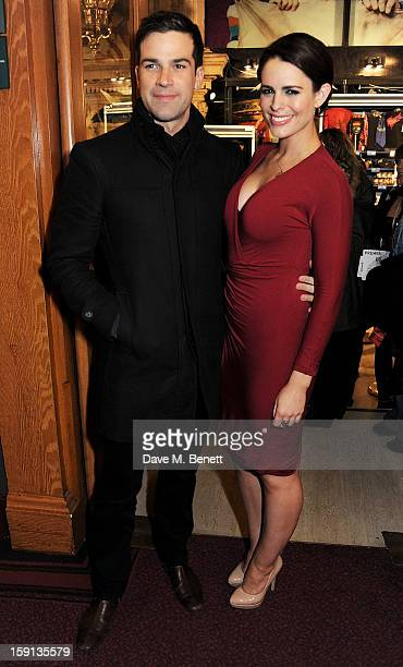 Gethin Jones and Susie Amy arrive at the opening night of Cirque Du Soleil's Kooza at Royal Albert Hall on January 8 2013 in London England