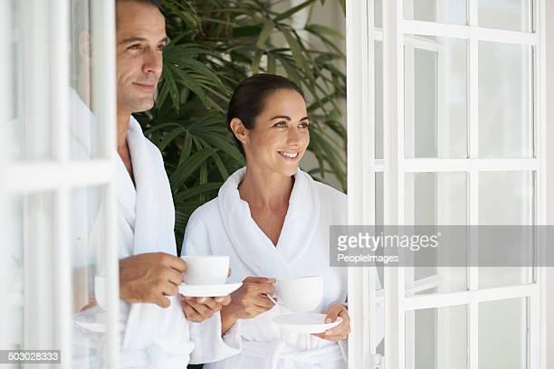 Obtener la cafeína fijar en el spa de día