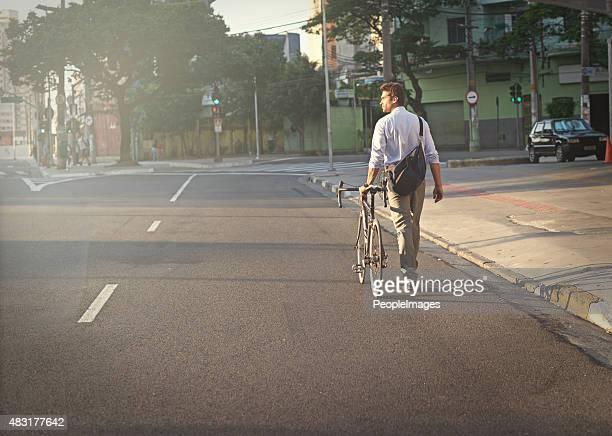 Transportmöglichkeiten in der Stadt auf dem Fahrrad