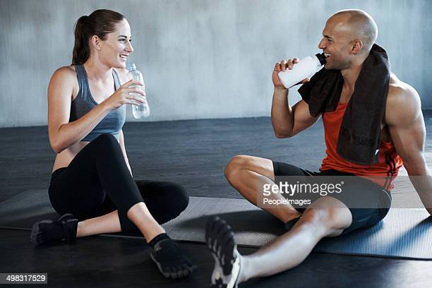 Getting enough fluids before a hard workout is important