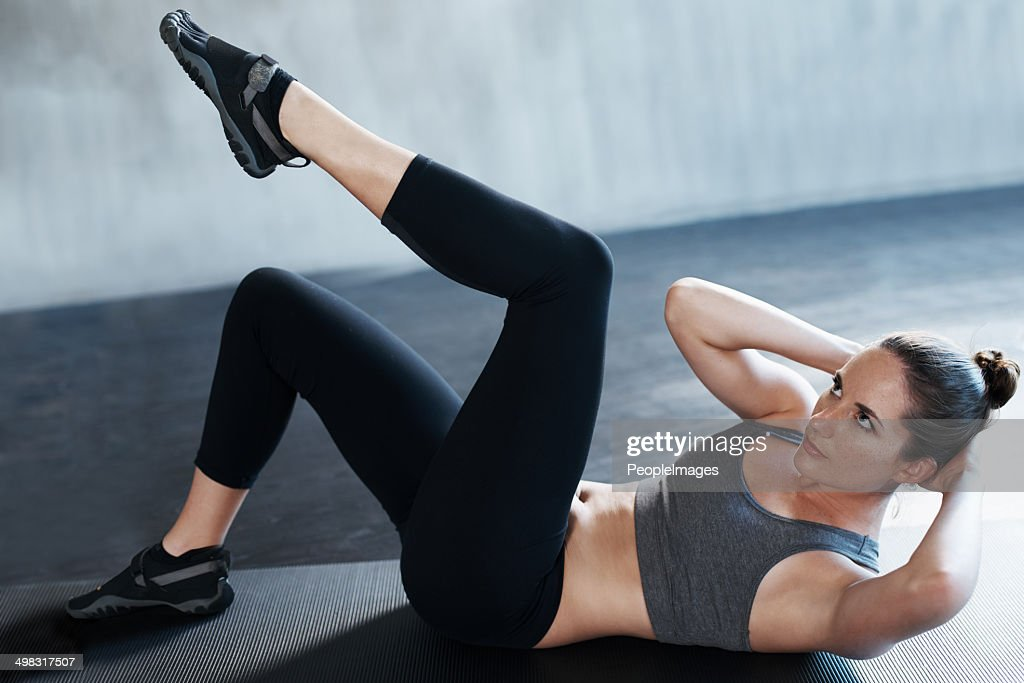 Getting her abs nice and trim : Stock Photo