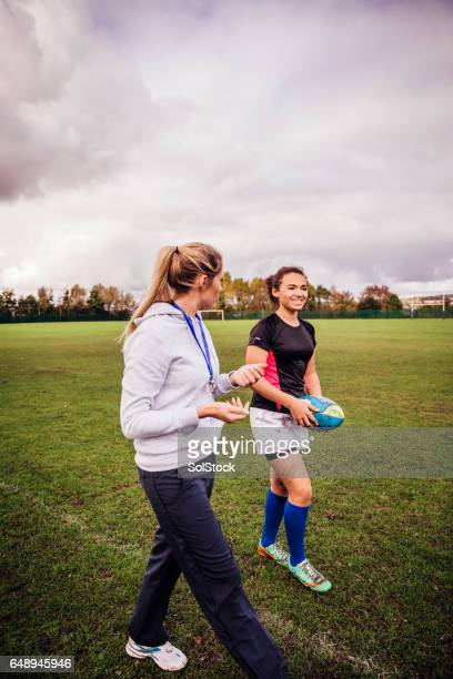 Getting her girls into Rugby