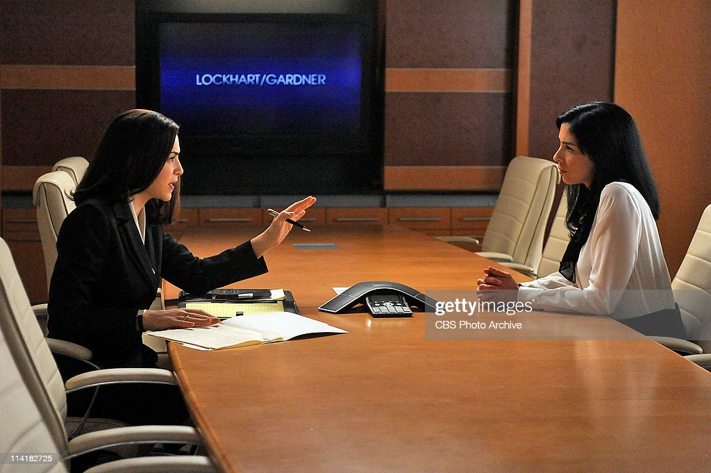 'Getting Off'--Alicia (Julianna Margulies, left) helps defend Stephanie Engler (guest star Sarah Silverman, right), the owner of an adultery website, when one of her users is murdered. However, the civil case turns criminal when the murder is pinned on Stephanie. Meanwhile Kalinda contemplates leaving the firm, on THE GOOD WIFE, Tuesday, May 10 (10:00-11:00 PM, ET/PT) on the CBS Television Network.